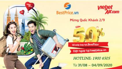 GIẢM 50% vé máy bay Vietjet Air nhân dịp Quốc Khánh 2/9!