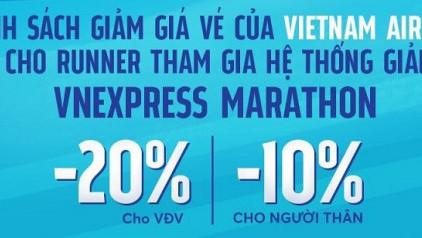 [GIẢM TỚI 20%] Vietnam Airlines triển khai ưu đãi cho Runners tham gia hệ thống giải VnExpress Marathon