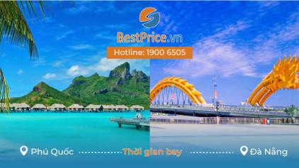 Thời gian bay từ Phú Quốc đi Đà Nẵng mất bao lâu?