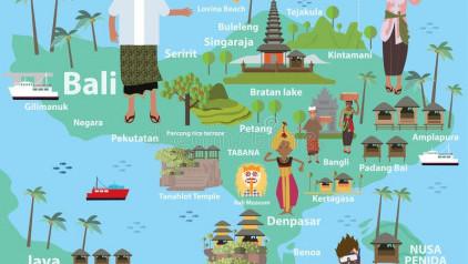 Tổng hợp những thông tin mới nhất về bản đồ du lịch Bali
