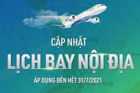[Bamboo Airways] Cập nhật lịch bay nội địa tháng 7