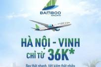 Vé máy bay Hà Nội- Vinh hãng Bamboo Airways khuyến mại chỉ từ 36k