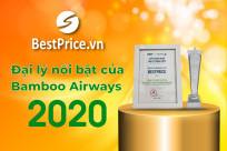 BestPrice đạt chứng nhận ĐẠI LÝ NỔI BẬT 2020 của hãng hàng không Bamboo Airways