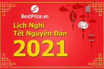 BestPrice thông báo đến Quý khách hàng lịch nghỉ Tết Nguyên Đán 2021