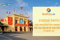 [CHÍNH THỨC] Tạm dừng đường bay Tp. Hồ Chí Minh đi Hải Phòng và ngược lại