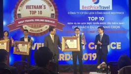 BestPrice Travel vinh dự nhận giải thưởng Top 10 Dịch vụ Du lịch được yêu thích nhất  2019