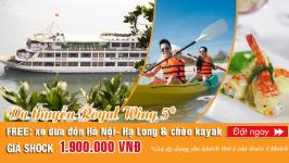 Đặt du thuyền Royal Wings 5* chỉ với 1.900.000 vnđ