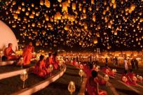 Đặt vé máy bay đi Thái Lan đón lễ hội đèn trời bậc nhất xứ Chùa Vàng