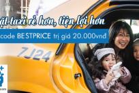 Dichungtaxi tặng khách hàng BestPrice mã giảm giá taxi ra sân bay