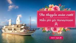 Du thuyền Hạ Long mùa chung đôi: MIỄN PHÍ gói honeymoon