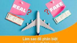 Làm thế nào để không mua phải vé máy bay giả?