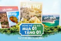 [MUA 1 TẶNG 1] Bamboo Airways bùng nổ ưu đãi chào đón các đường bay mới