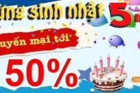 Mừng sinh nhật BestPrice- khuyến mại tới 50%