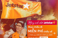"""Mừng sinh nhật năm thứ 12, """"Mua chiều đi, miễn phí chiều về"""" cùng Jetstar"""