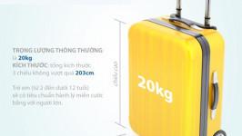 Quy định hành lý và giá hành lý của hãng Vietjet Air