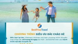 Săn khuyến mãi giảm giá kịch sàn vé máy bay Vietnam Airline dịp hè