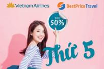 Săn vé máy bay Vietnam Airlines giảm 50% thứ 5 hàng tuần