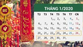 Tết năm nay nghỉ mấy ngày? Lịch nghỉ Tết dương lịch và âm lịch chính thức 2020
