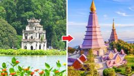 Thời gian bay từ Hà Nội đến Chiang Mai mất bao lâu?