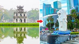 Thời gian bay từ Hà Nội đến Singapore mất bao lâu?