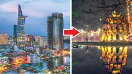 Thời gian bay từ Hồ Chí Minh đến Hà Nội mất bao lâu?