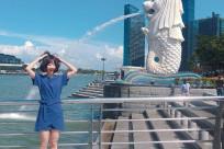 Tôi muốn di chuyển tới tượng sư tử mình cá - tượng Merlion ở Singapore thì làm thế nào?