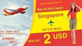 Vé máy bay giá rẻ chỉ từ 2USD của Vietjetair