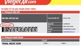 Vietjet thông báo thay đổi mã (code) định dạng khi đặt vé máy bay
