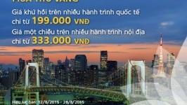 Vietnam Airlines bán vé siêu khuyến mại chỉ từ 199k