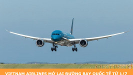 Vietnam Airlines mở lại đường bay quốc tế