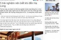 Vnexpress.net: 5 Trải nghiệm nên biết khi đến Hạ Long