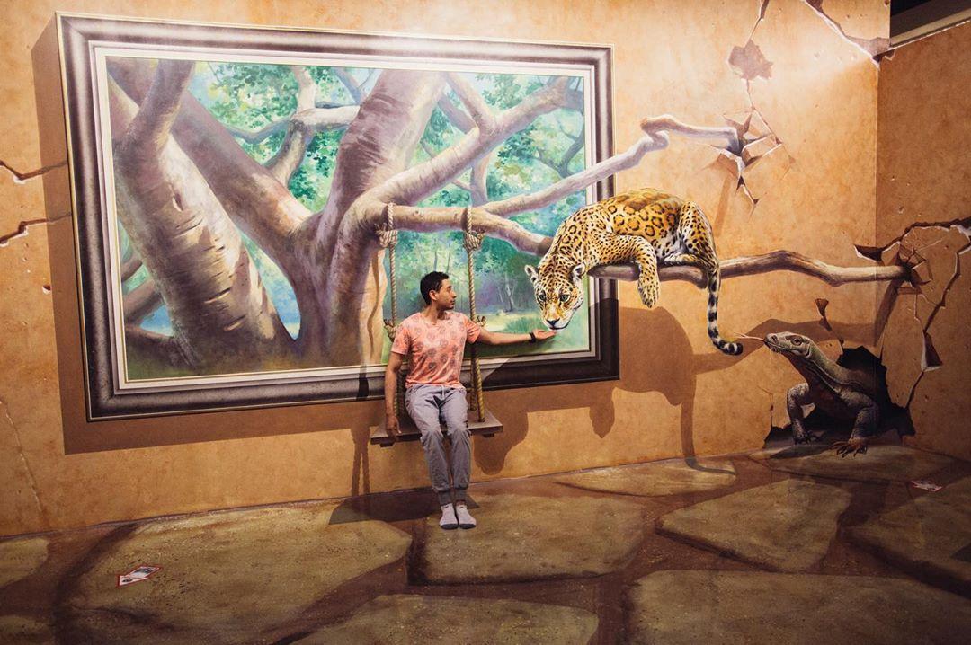 Một trong những bức ảnh check in ấn tượng của du khách tại bảo tàng Artinus