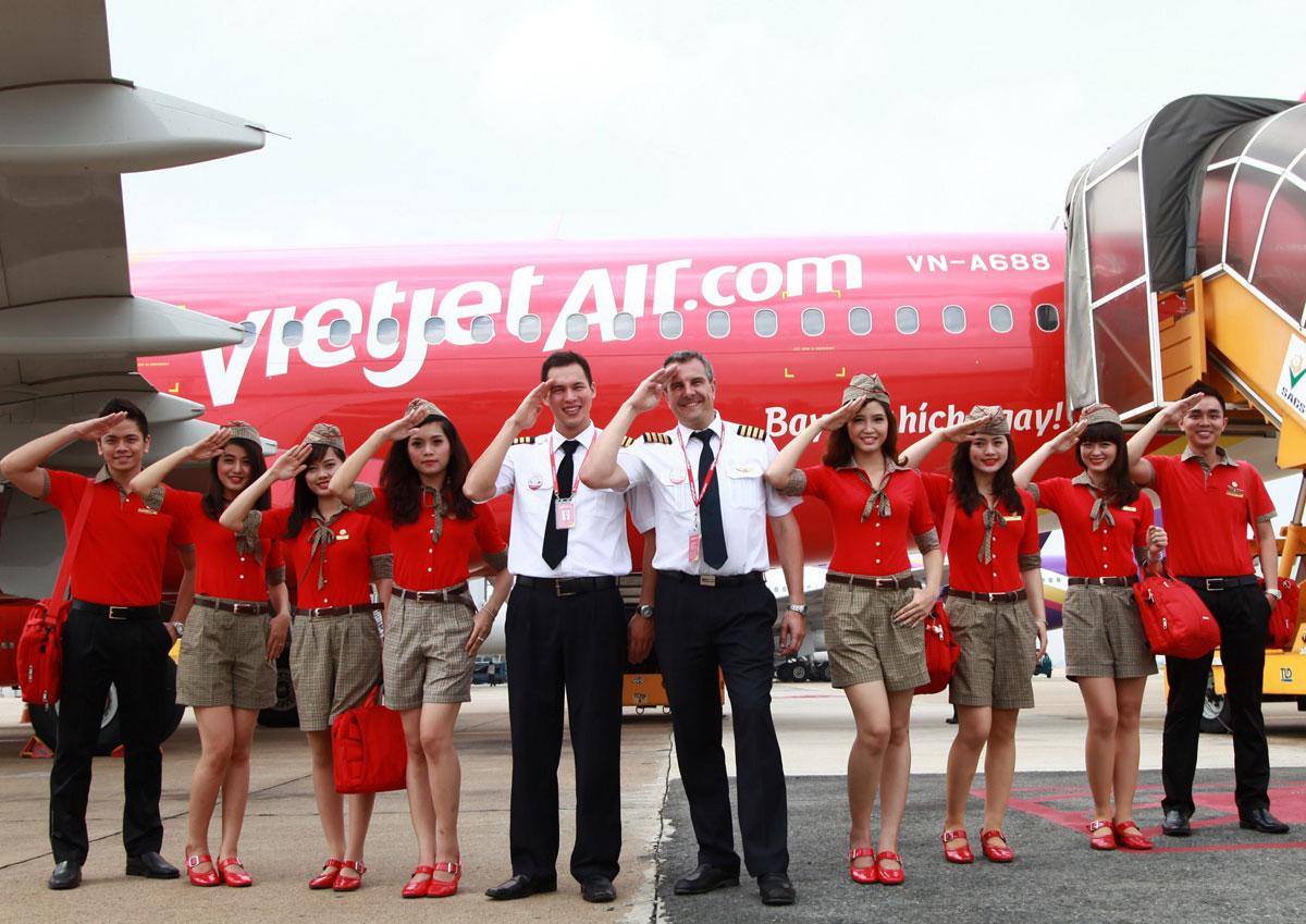 Đội ngũ nhân viêm Vietjet Air