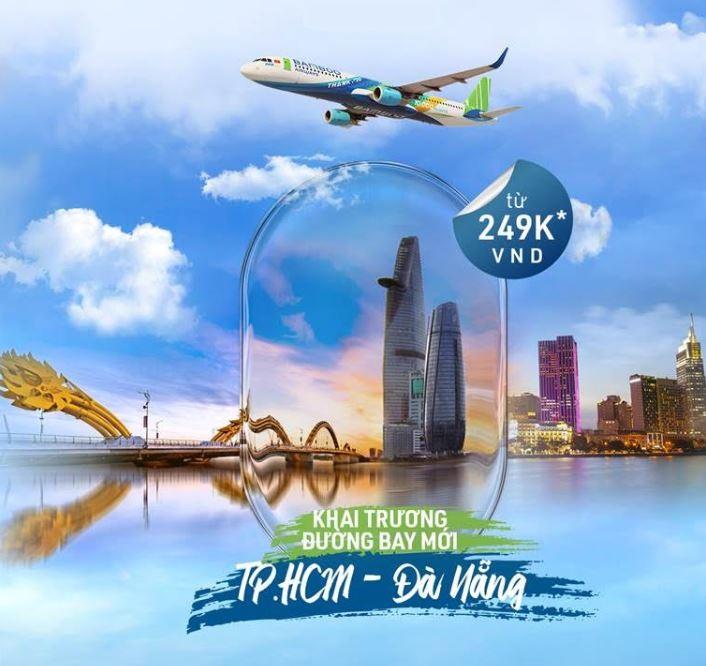 Chương trình khuyến mãi chặng bay mới Hồ Chí Minh - Đà Nẵng chỉ từ 249k
