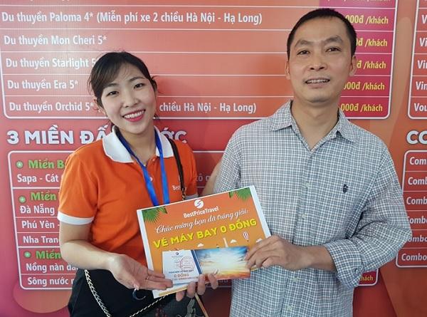 Anh Lê Văn Chính trúng giải VÉ MÁY BAY 0 ĐỒNG