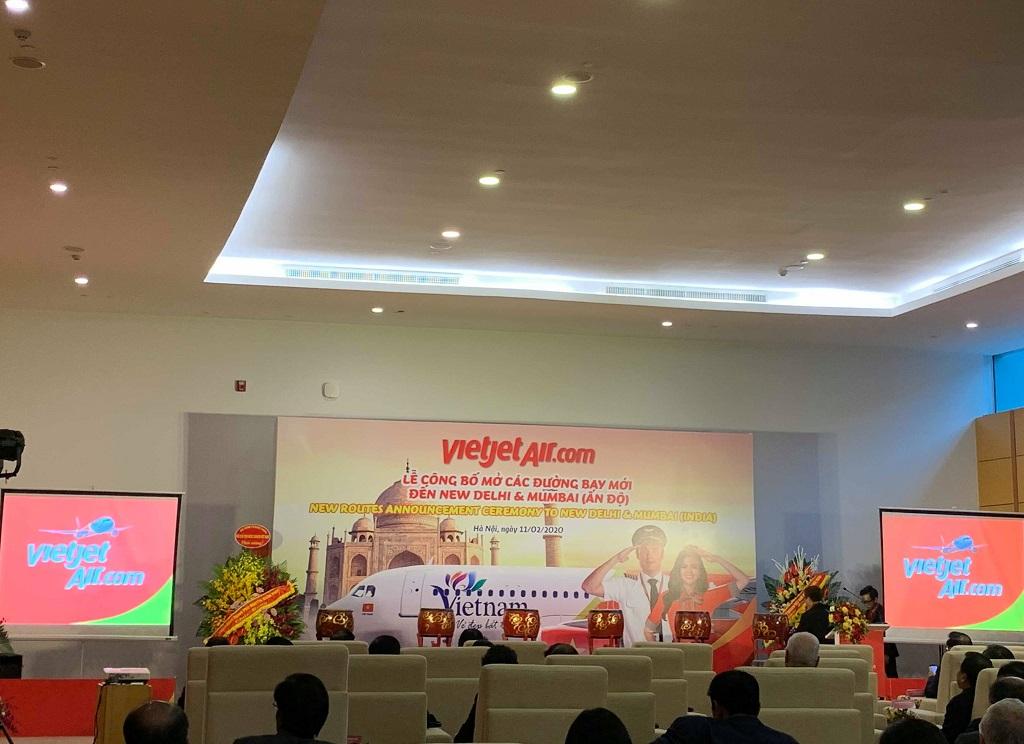 Lễ công bố mở đường bay thẳng Việt Nam - Ấn Độ của Vietjet Air