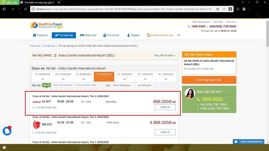 Đặt vé máy bay Hà Nội (Việt Nam) đi New Delhi (Ấn Độ)