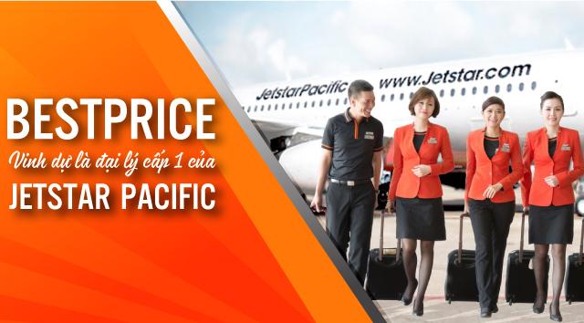 BestPrice là đại lý cấp 1 của Jetstar Pacific