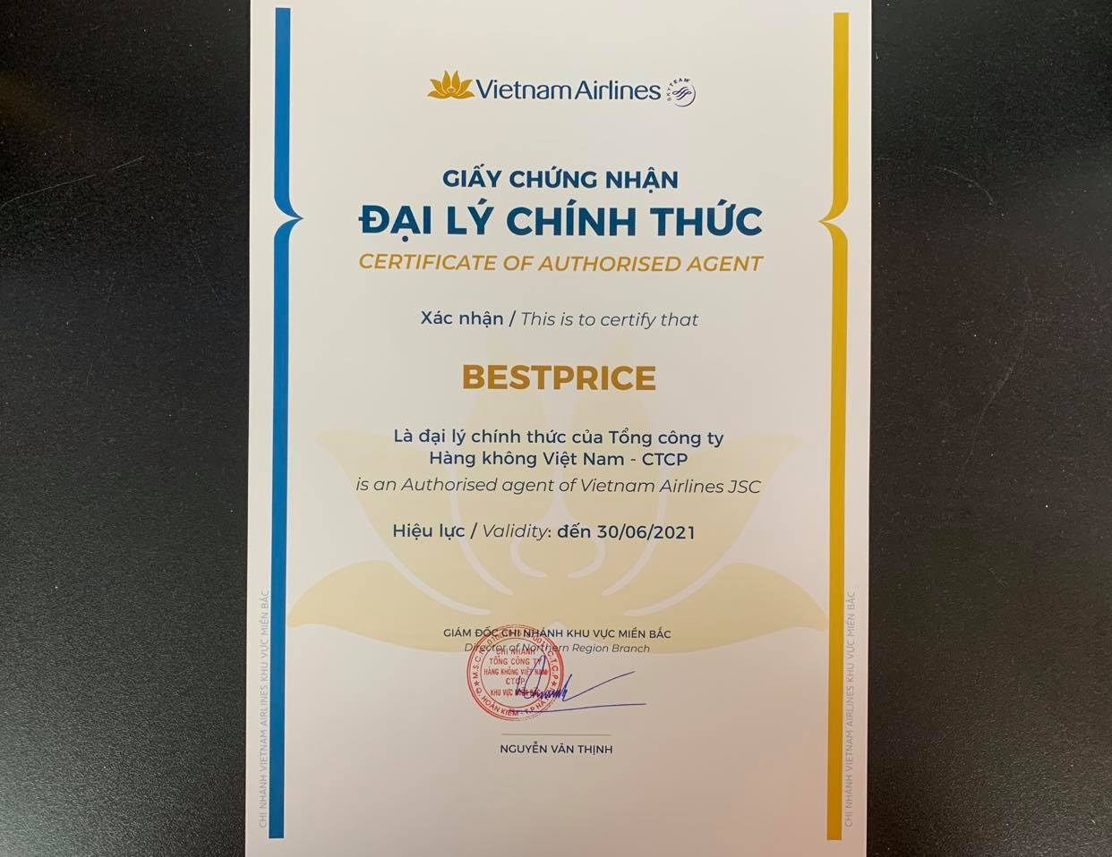 BestPrice – đại lý cấp 1 của Vietnam Airlines
