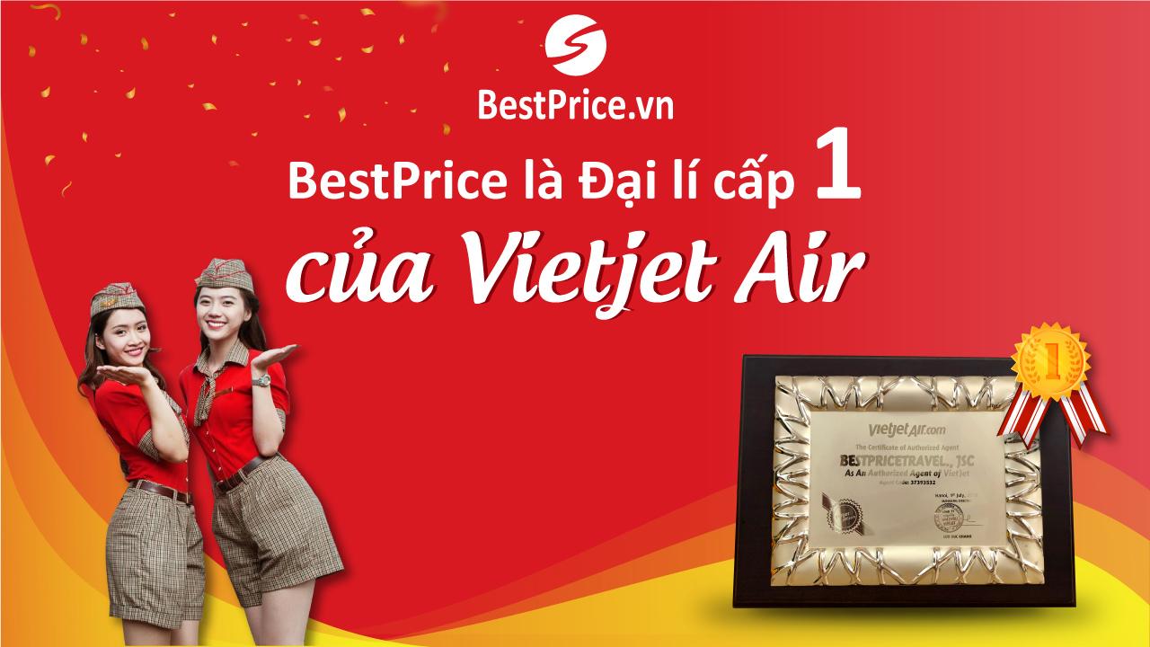 Chứng nhận đại lý cấp 1 của VietJet Air