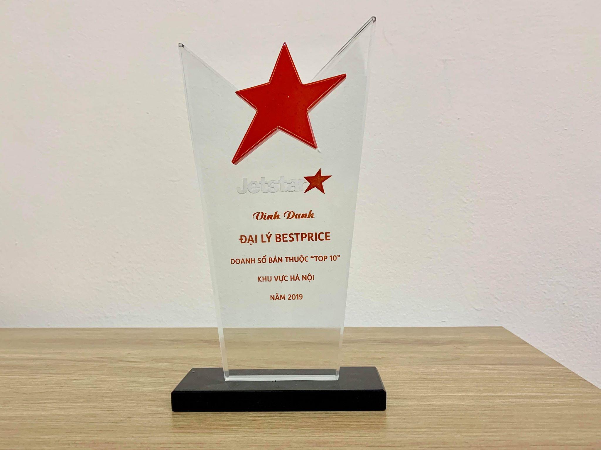 BestPrice vinh dự lọt vào Top 10 đại lý có doanh số cao nhất của Jetstar Pacific