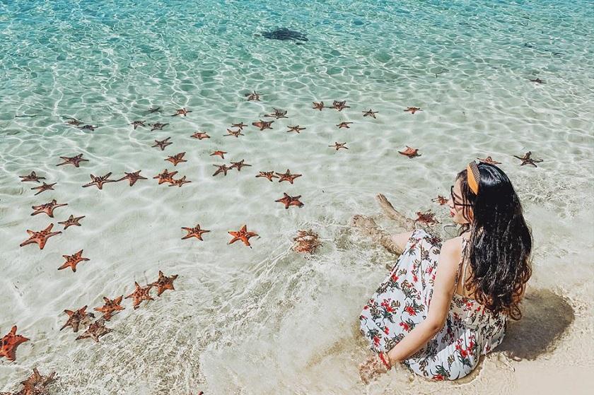 Sao biển ở làng chài Rạch Vẹm