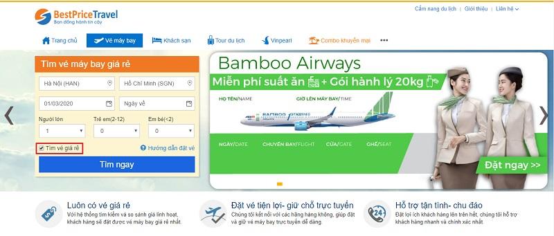 Tìm vé rẻ Bamboo tại BestPrice