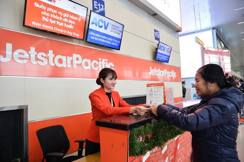 Quầy check in hãng Jetstar tại sân bay