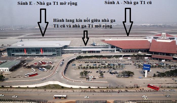 Sơ đồ bên ngoài sân bay Nội Bài