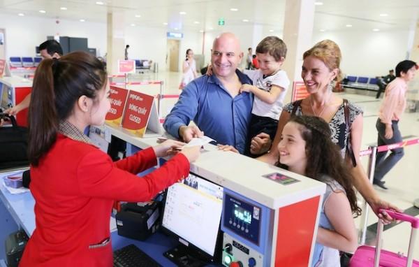 Quầy check in sân bay hãng Vietjet