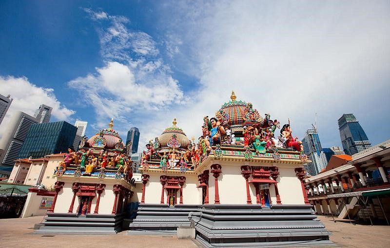 Đền thờ Sri Mariamman là ngôi đền Hindu cổ nhất