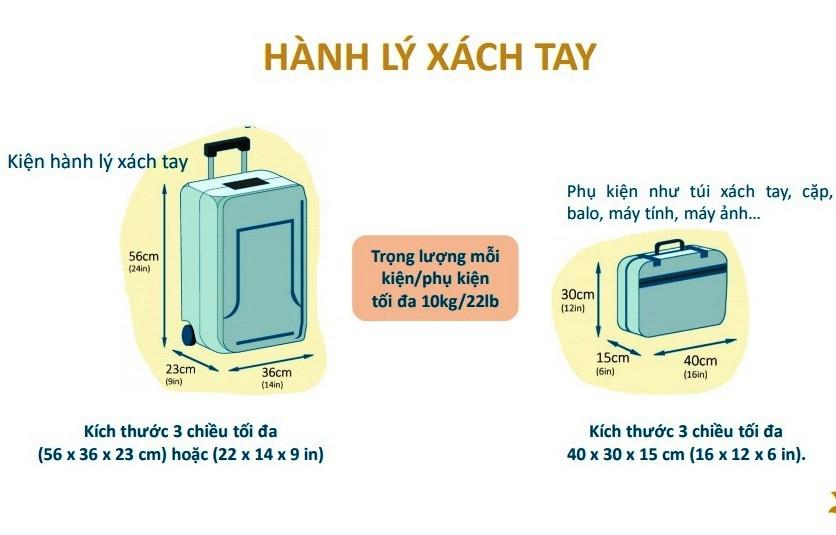 Quy định hành lý xách tay hãng Vietnam Airlines