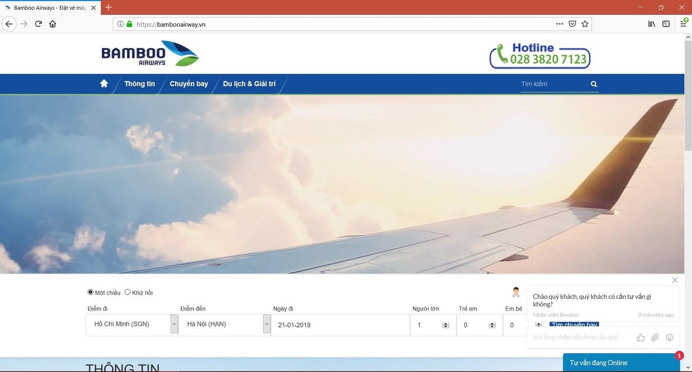 Một số website giả mạo Bamboo Airways