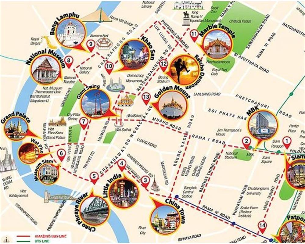 Bản đồ du lịch Bangkok Thái Lan